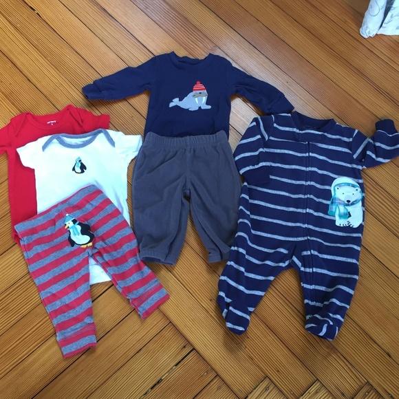 6d1a11cf9 Carter's Matching Sets | Carters 6 Piece Baby Boy Winter Bundle 3 ...